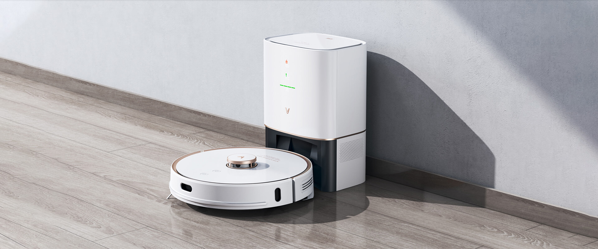 viomi alpha s9 automatic vacuum With Auto-Dumping Cleaning