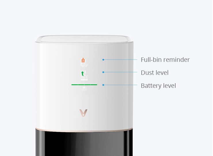viomi alpha s9 self vacuum with Full Status Indicators