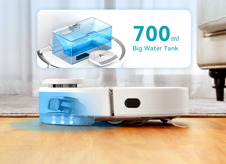V3 Max Robot vacuum with Constant-Pressure Electric Water Tank