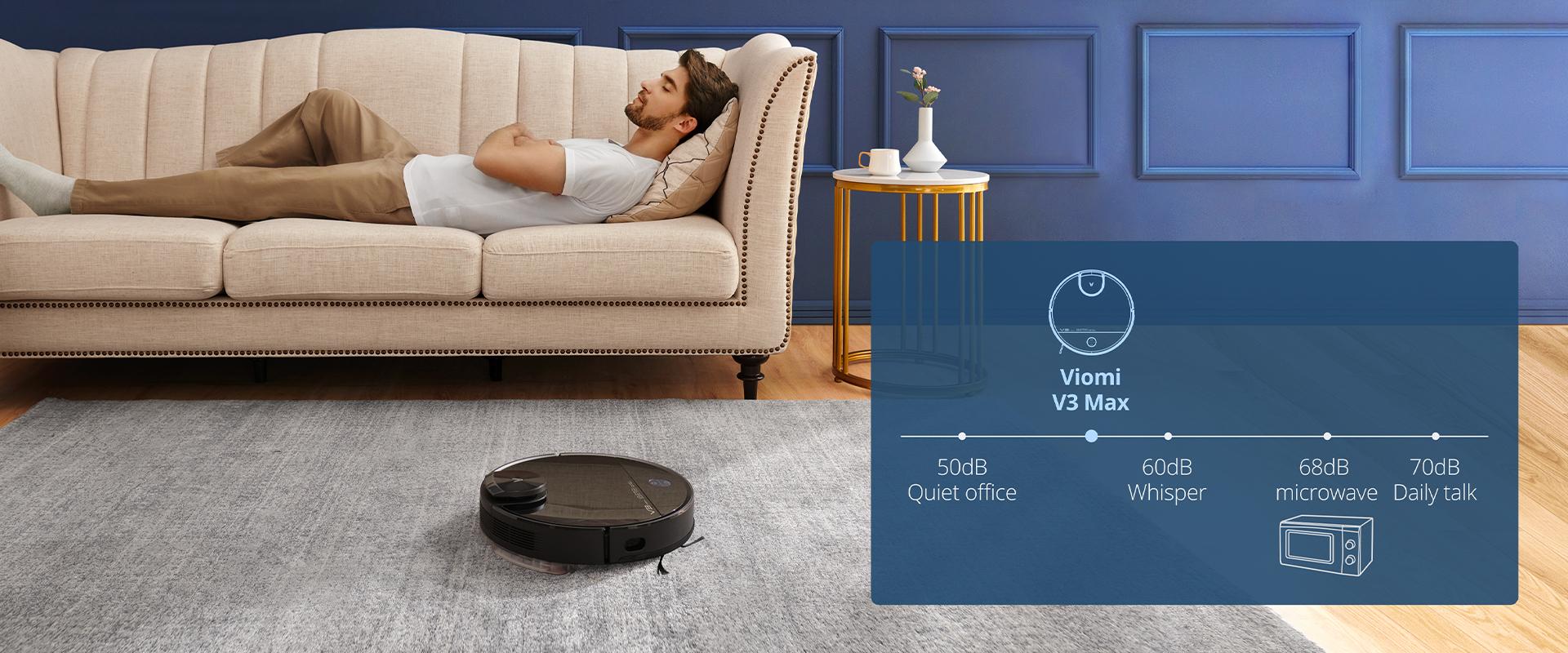 V3 Max Robot vacuum Quieter Than Ever